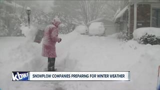 Snowplow companies gear up for winter weather - Video