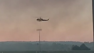 Helicopters Deployed to Battle Caloundra Bush Fires - Video