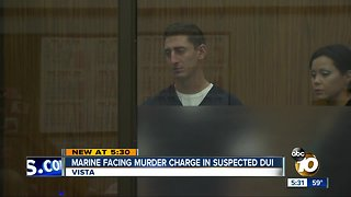 Marine facing murder charge in suspected DUI