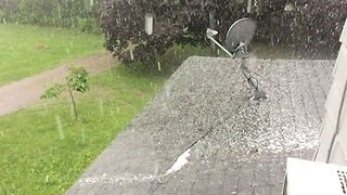 Thunderstorms Bring Hail to Parts of Central New York - Video