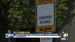 Developers seek input on homeless housing - Video
