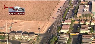 Backup near Desert Oasis High school