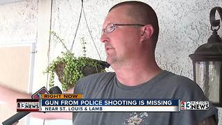 Neighbors looking for missing gun after police chase in their area