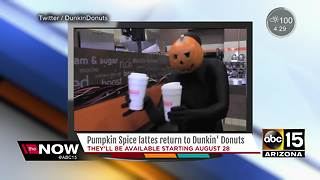 Ready for fall at Dunkin Donuts?