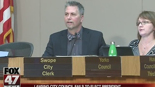 Lansing city council fails to elect president - Video