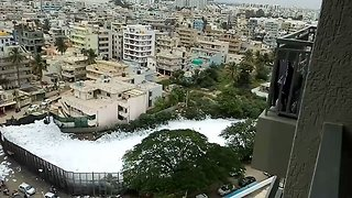 Toxic Froth Covers Bengaluru Lakes, 'Trapping' Residents Indoors - Video