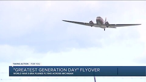 'Greatest Generation Day' flyover