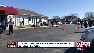 Church does drive in service to stop spread of COVID-19