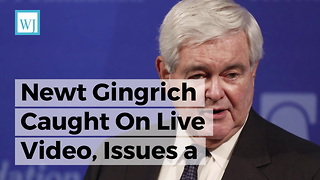 Newt Gingrich Caught On Live Video, Issues a Surprising Statement on Al Franken - Video