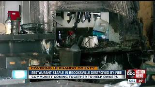 Electrical fire destroys inside of downtown Brooksville restaurant - Video