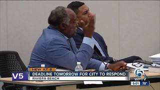Deadline Wednesday for city to respond - Video