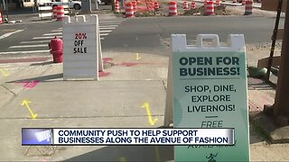 'Cash Mob' hoping to help Detroit's Avenue of Fashion businesses struggling during construction