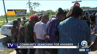 Indiantown residents search for answers after fatal deputy-involved shooting - Video