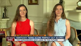 Kentucky twins score perfect ACT scores - Video