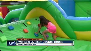 The World's Largest Bounce House is back in Wisconsin this weekend - Video