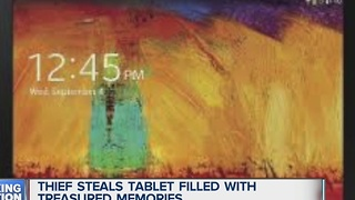 Woman wants stolen tablet back - Video