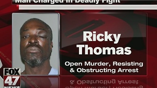 Lansing man arraigned on murder charge after fight - Video