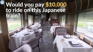 Take a look inside Japan's new luxury train - Video