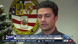 UMBC student arrested on child porn charges