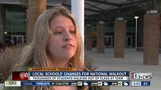 Local student talks about walking out today - Video