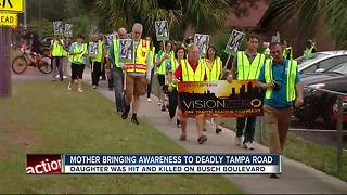 Mother brings awareness to deadly Tampa road - Video