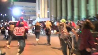 Driver plows into protester in Buffalo