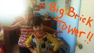Our Biggest Brick Tower Yet!!!