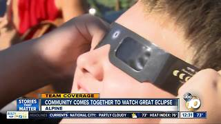 Alpine community members come together to view eclipse - Video