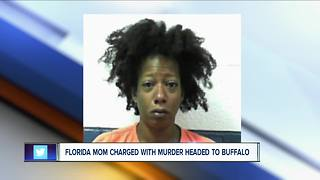 Police: Florida mother charged with murder was headed to Buffalo