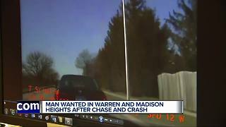 VIDEO: Warren Police searching for driver who escaped during chase - Video