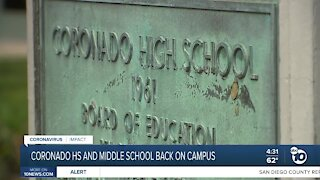 Controversy over reopening of Coronado HS and Middle School