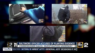 Baltimore officer accused of planting evidence - Video