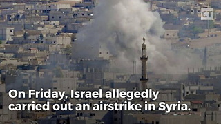 Israel Strikes Iranian Base in Syria - Video