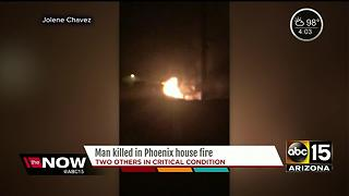 Phoenix man couldn't make it out of burning house fire - Video