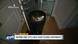 Renters at The Vue seek city's help over flooded apartments