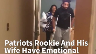 Patriots Rookie And His Wife Have Emotional Reunion After Scary Car Crash - Video