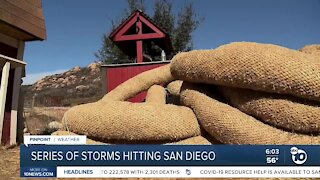 Series of storms to hit San Diego