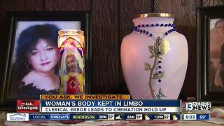 Woman's body left in limbo after signature confusion - Video
