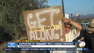 "Supporters of ""DREAMers"" rally against president"