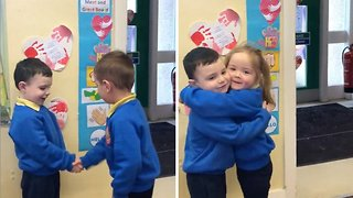 Watch: Irish nursery pupils' adorable meet and greet routine melts hearts