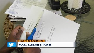 Tips for traveling with a food allergy