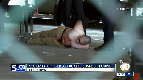 Security officer attacked, suspect found