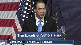 Cuomo: Free Tuition for middle class - Video