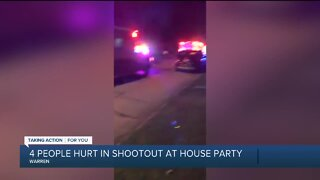 4 people hurt in shootout at house party