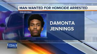 Man wanted for homicide in Milwaukee arrested in Oshkosh - Video