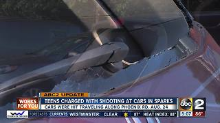Two teenage boys charged with shooting multiple cars in Sparks