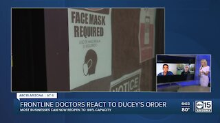 Frontline doctors react to Gov. Ducey's business reopening order