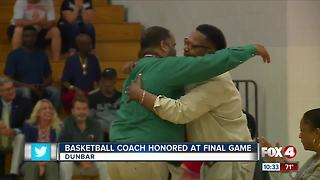 Dunbar High School Basketball Coach honored at final game