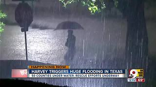 Harvey leaves widespread flooding in Texas - Video