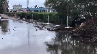 King tides impacting Marine Way in Delray Beach - Video